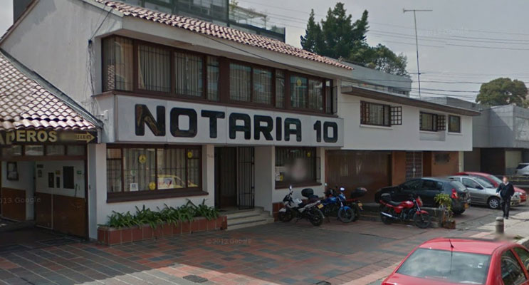 notaria 10 bogota