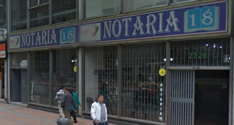 notaria 18 bogota