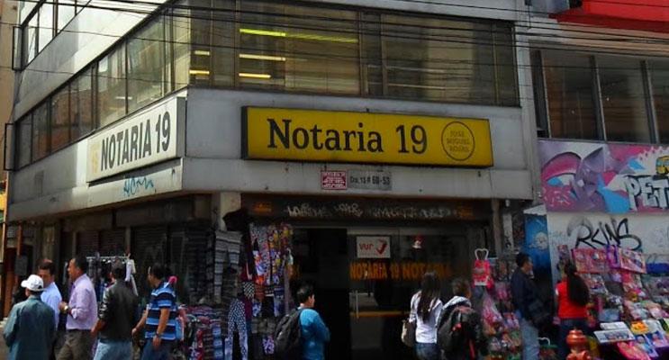 notaria 19 bogota