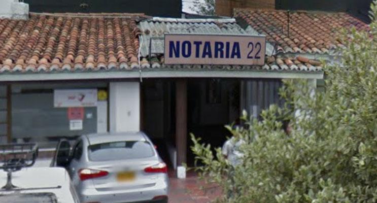 notaria 22 bogota