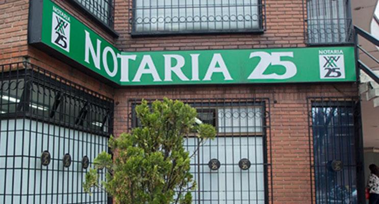 notaria 25 bogota