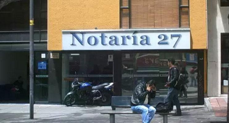 notaria 27 bogota