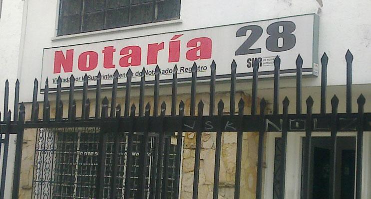 notaria 28 bogota