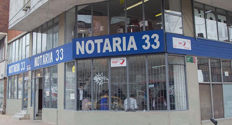 notaria 33 bogota
