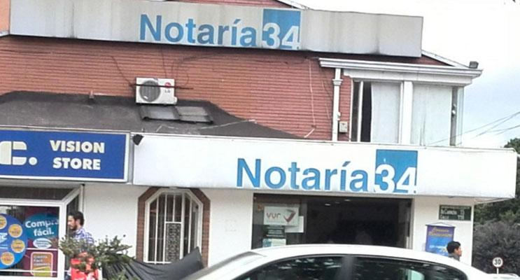 notaria 34 bogota