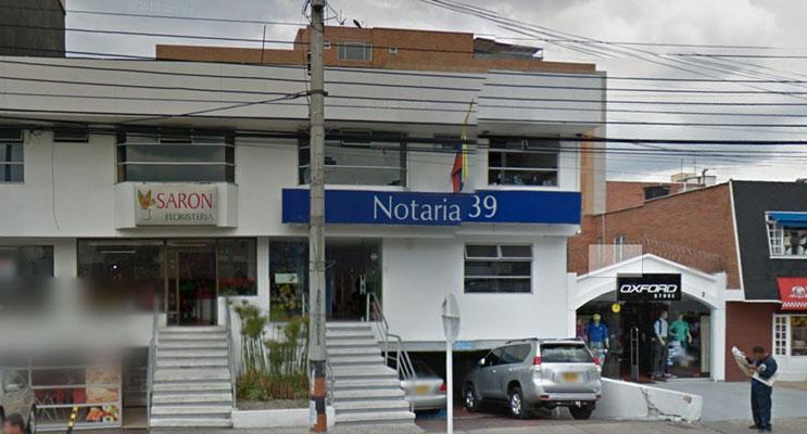 notaria 39 bogota