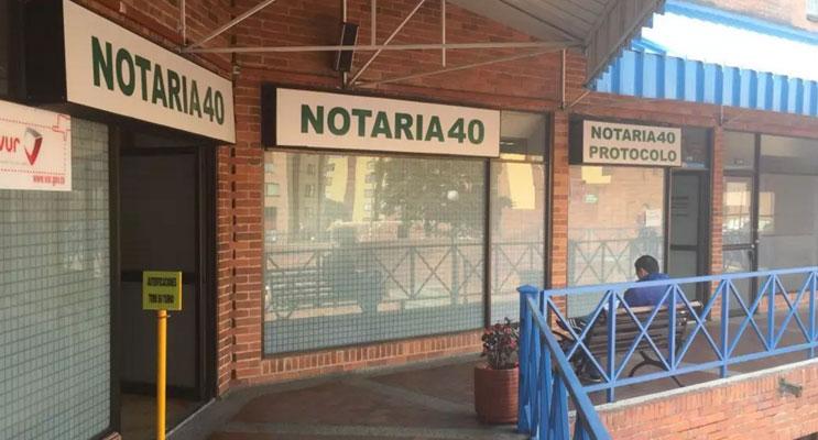 notaria 40 bogota