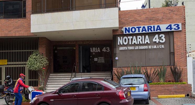 notaria 43 bogota