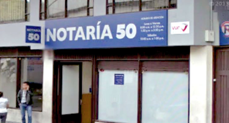 notaria 50 bogota