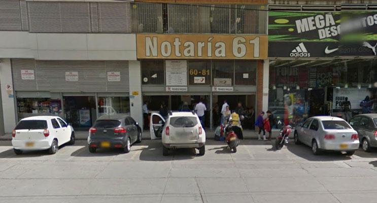 notaria 61 bogota