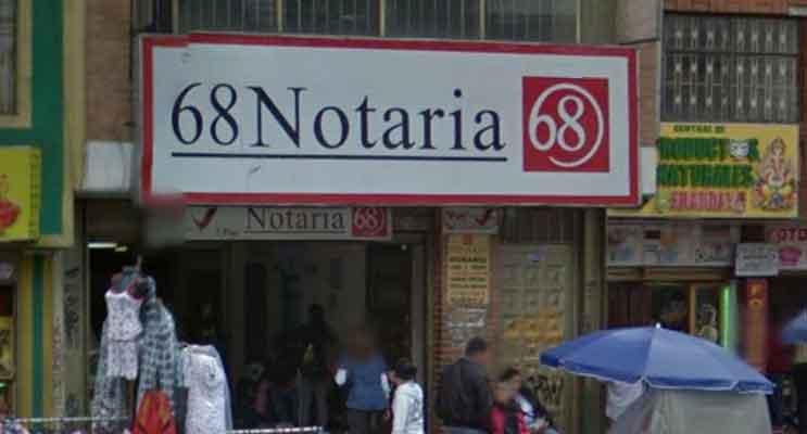 notaria 68 bogota