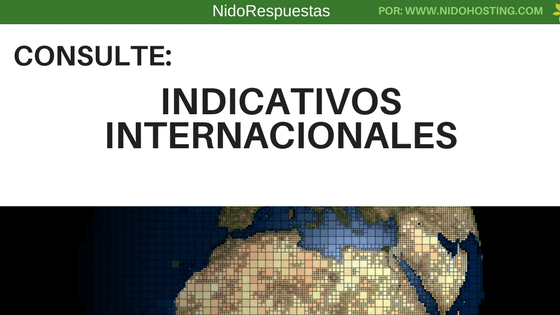 Indicativos internacionales